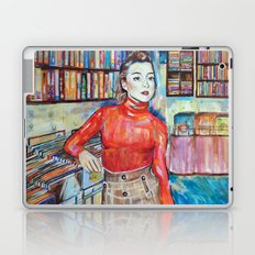Russian Red, Singer, painting, illustration, art pop Laptop & iPad Skin