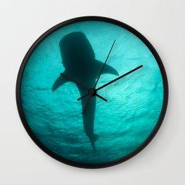 Whale shark silhouette Wall Clock