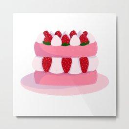 strawberry cake Metal Print