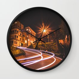 Lombard Street, SF Wall Clock