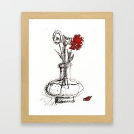 Red Petal Framed Art Print