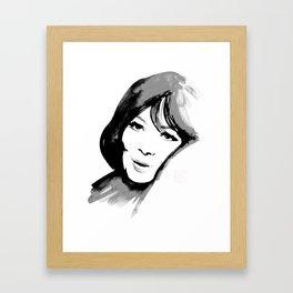 juliette greco Framed Art Print