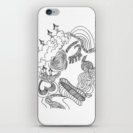 dreams in line iPhone Skin