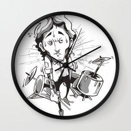 Drummer drums Wall Clock