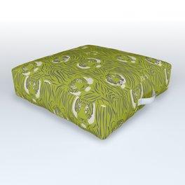 Tigers in Green Outdoor Floor Cushion