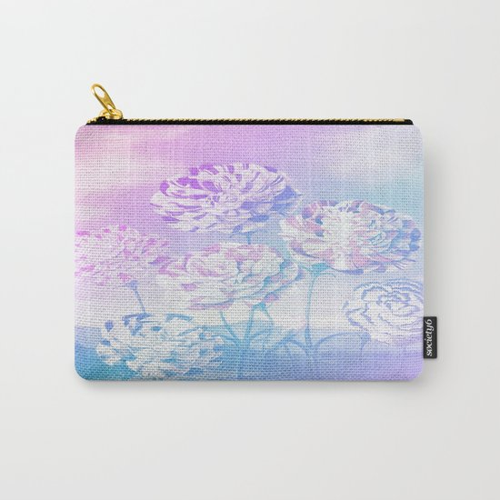 Colorful Pastel Flowers Carry-All Pouch