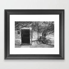 Door & Bicycle Framed Art Print