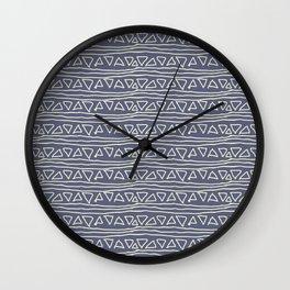 Blue Scribbles Pattern 03 Wall Clock