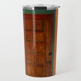 A Santa Fe  Door Travel Mug
