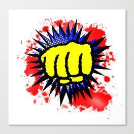 Comic Yellow Fist Boom Canvas Print