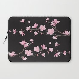 Cherry Blossom - Black Laptop Sleeve
