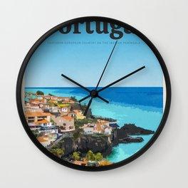 Visit Portugal Wall Clock