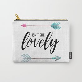 Isn't She Lovely - Watercolor Arrows Carry-All Pouch