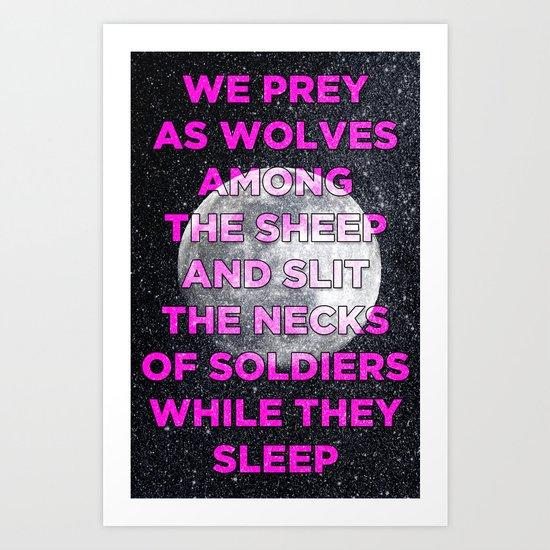 We Prey As Wolves Art Print