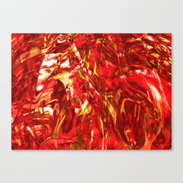 Fluid Painting (Red Version) Canvas Print