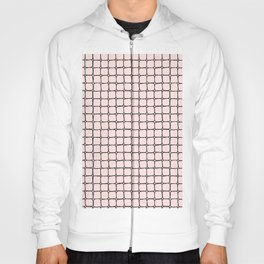Back to School- Simple Grid Pattern- Black & Pink - Mix & Match with Simplicity of Life Hoody