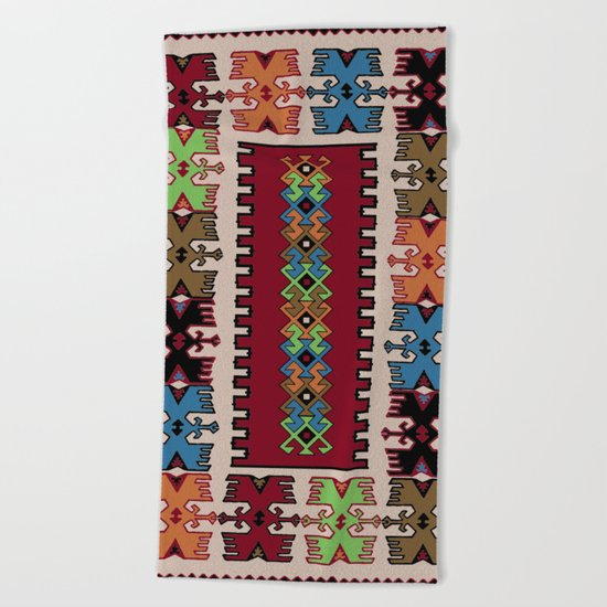 Kilim pattern 026 Beach Towel