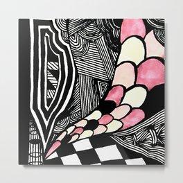 Zentangle #19 Metal Print