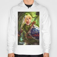 the legend of zelda Hoodies featuring Link - Legend of Zelda by Sanjin Halimic