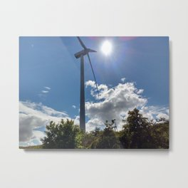 Wind Farm in the Sun Metal Print