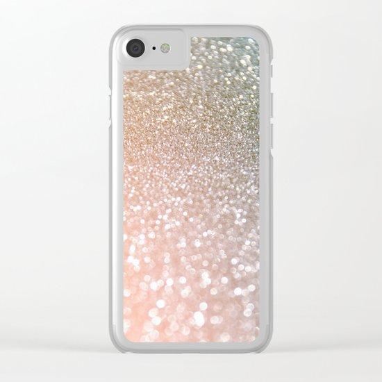 Rosequartz glitter - Pink luxury glitter design Clear iPhone Case