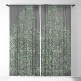 Fantasy Tree Greenery Sheer Curtain