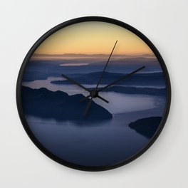 The glow of the lake Wall Clock