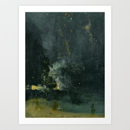 Nocturne in Black and Gold by Whistler, 185 Art Print