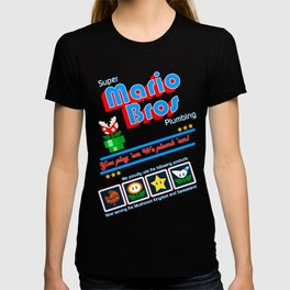 Super Mario Bros Plumbing T-shirt