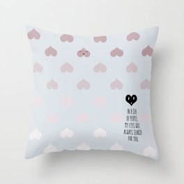 SEA OF HEARTS Throw Pillow