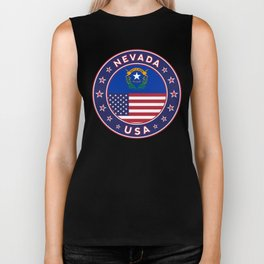 Nevada, USA States, Nevada t-shirt, Nevada sticker, circle Biker Tank