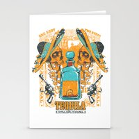 tequila Stationery Cards featuring Tequila Duel by Tshirt-Factory