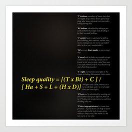 Sleep quality Art Print