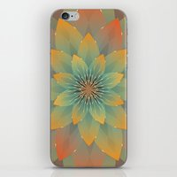 lotus flower iPhone & iPod Skins featuring Lotus by HK Chik