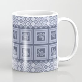 Ornament color blue . Coffee Mug