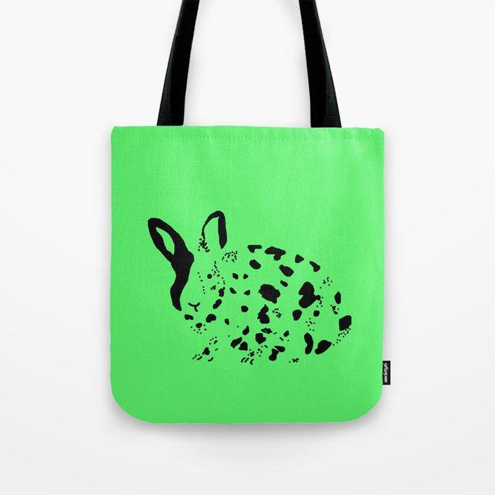 Harlequin Rabbit Spots Tote Bag