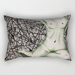 Atrapada en una Tela de Araña Rectangular Pillow