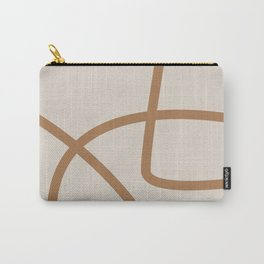 Beige Abstract Lines No. 1 Carry-All Pouch