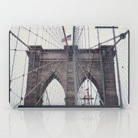 brooklyn bridge iPad Cases featuring Brooklyn Bridge by Kameron Elisabeth