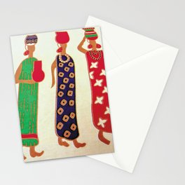 African Ladies in Colorful Dresses Stationery Cards