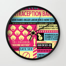Contraception Ban Wall Clock