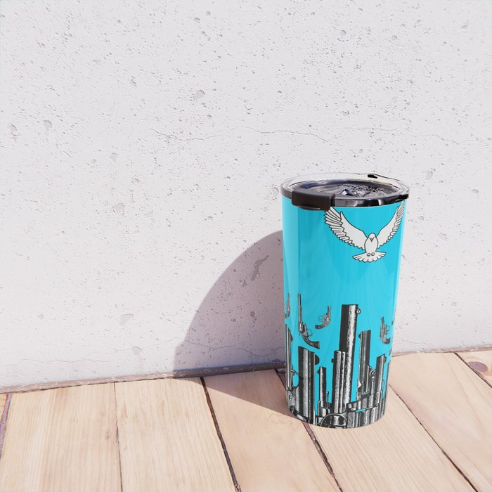 Peace of the Action BLUE / Peace concept Travel Mug