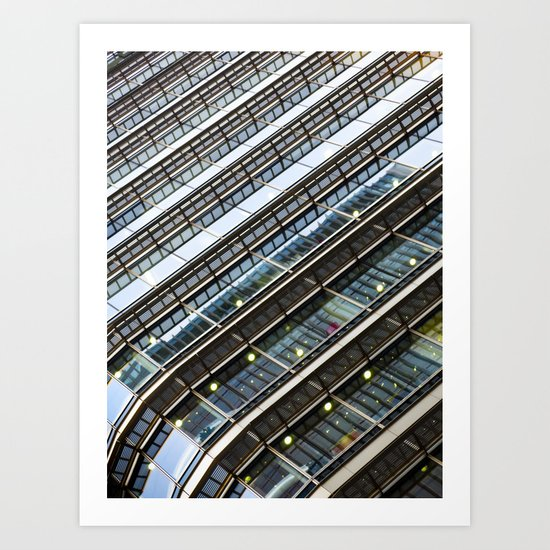 Canary Wharf  Abstract Art Print