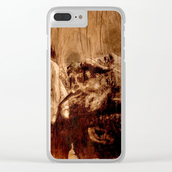 Charles Bukowski - wood - quote Clear iPhone Case