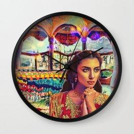 Lady of Shallot Wall Clock