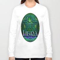 astrology Long Sleeve T-shirts featuring Libra Zodiac Sign Astrology by CAP Artwork & Design