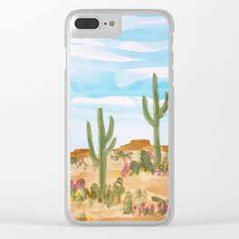Painted Desert 4 Clear iPhone Case