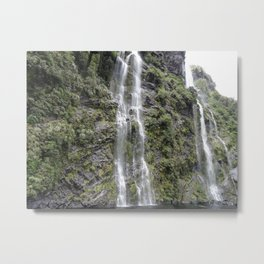 Waterfalls in Doubtful Sound Metal Print