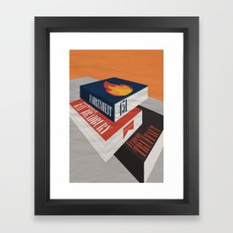 Fahrenheit 451, François Truffaut, minimal movie poster, french film, Ray Bradbury, book Framed Art Print