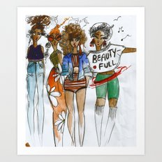 Girls just wana have fun! Art Print